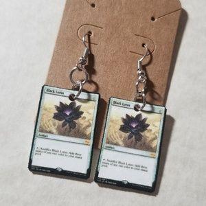 Jewelry - Black lotus earrings
